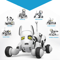 Eletric Toy Pet Dog Robot Intelligent Smart Wireless Remote Control Talking Speaking White Dogs Toys For Children Gift Vt043