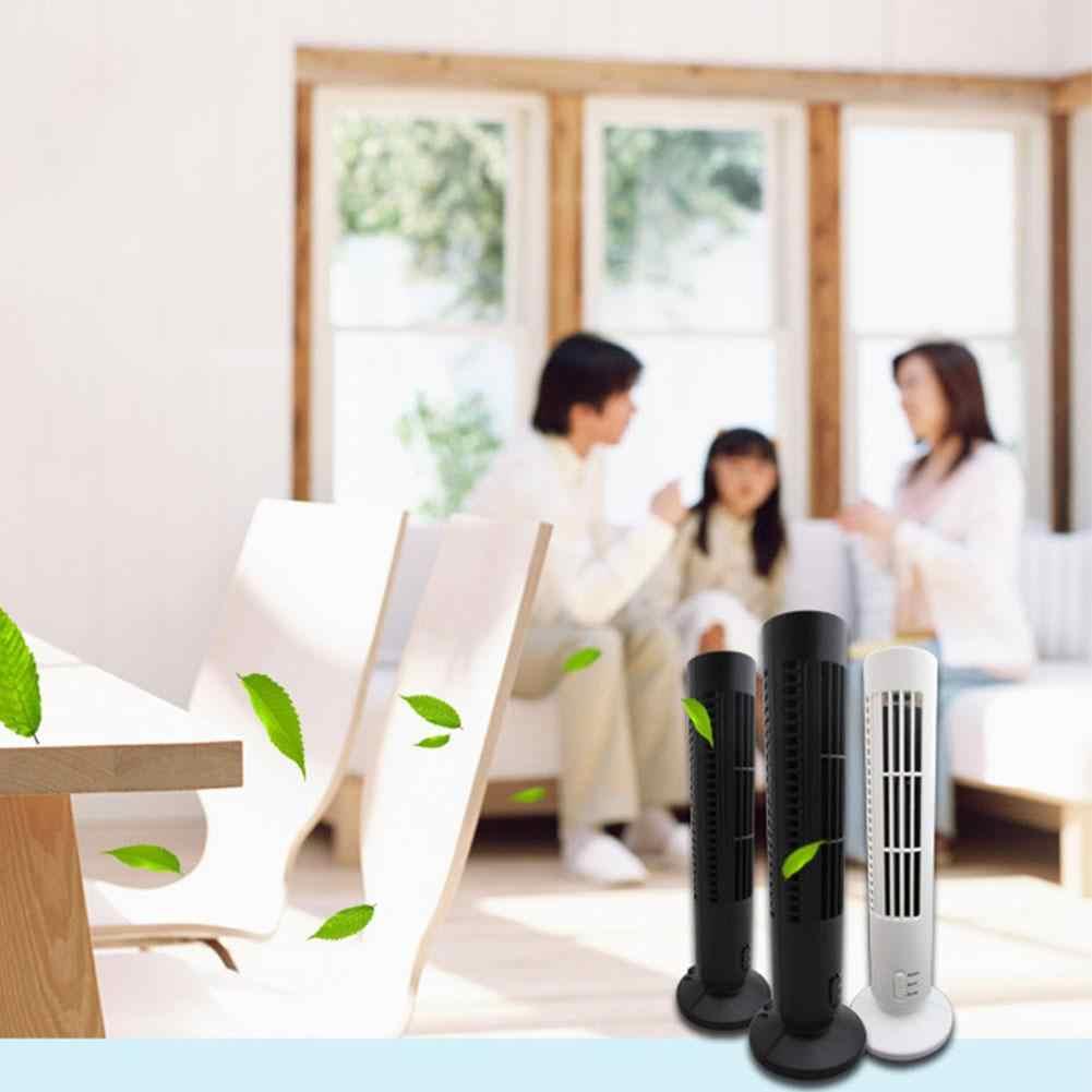 Mini Air Conditioner Fan Meja Pendingin Fan USB Vertikal Bladeless Fan Rumah Meja Kantor Penggemar Tower