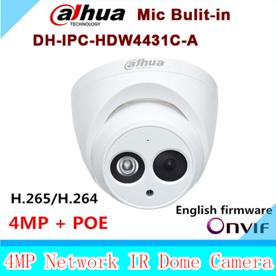 Dahua New arrival IPC-HDW4431C-A 4MP Full HD Network IR Mini Camera POE Mic Built-in cctv network dome DH-IPC-HDW4431C-A