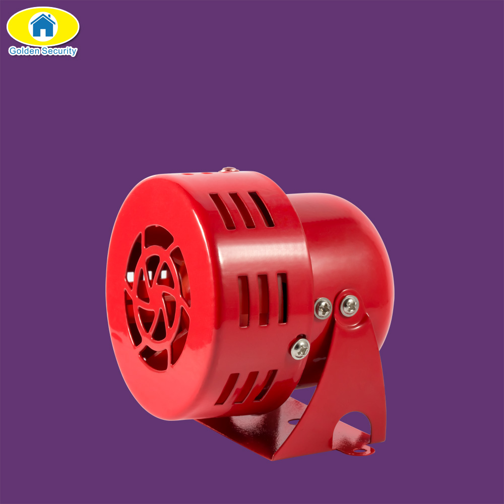 Golden Security 12V 3 110dB Automotive Air Raid Siren Horn Car Truck Motor Driven Alarm Red siren alarm red high quality 12v 3 automotive air raid siren horn car truck motor driven alarm red siren alarm with retail box