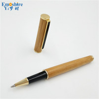 Wholesale Lapiceros Creativos Bamboo Roller Ball Pen Branding Ballpoint Pen For Writing Smooth Opening Ceremony Gifts
