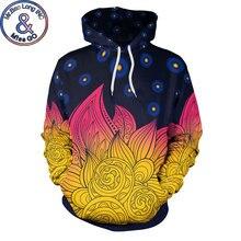 Galaxia espacio Mandala Floral impresión Sudadera con capucha de las mujeres de los hombres casuales 3D sudaderas con capucha de los hombres Harajuku Hip Hop Sudadera con capucha sudaderas con capucha