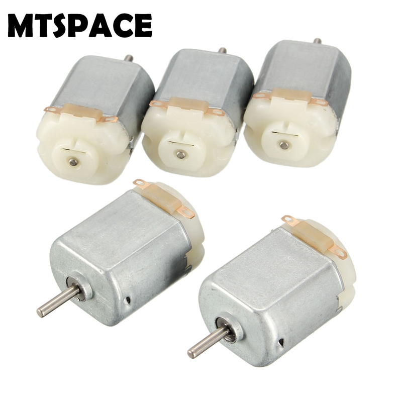 MTSPACE High Quality 5pcs/Set DC 3V Mini Motor for DIY Remote Control Toy Car Robot 18000rmp/Minute 20x15x25mm