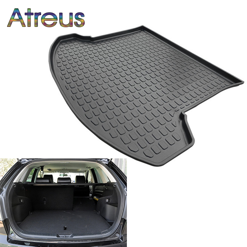 Atreus Car Rear Trunk Floor Mat Durable Carpet For Mazda CX-7 CX7 2010 2011 2012 2013 2014 2015 2016 2017 Boot Liner Tray mat for mazda cx 5 cx5 2012 2013 2014 2015 2016 accessories interior leather floor carpet inner car foot mat