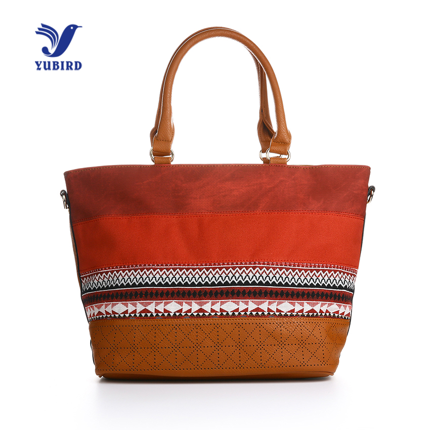 YUBIRD Casual Tote Bags Shoulder Bag Female Pu Leather New Vintage Woman Embroidery Crossbody Bags for Women Handbag Large цена