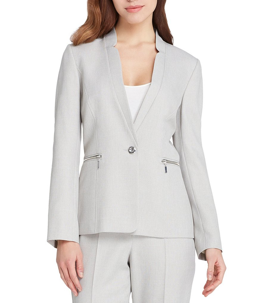 Custom Made Silver Women's Pants Suits Normcore Cool Girl Suits Work Suits Office Lady Suits 2 Piece Jacket/Pants W14
