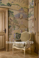 Home Decoration material Hand painted silk wallpaper painting rural community many pictures optional