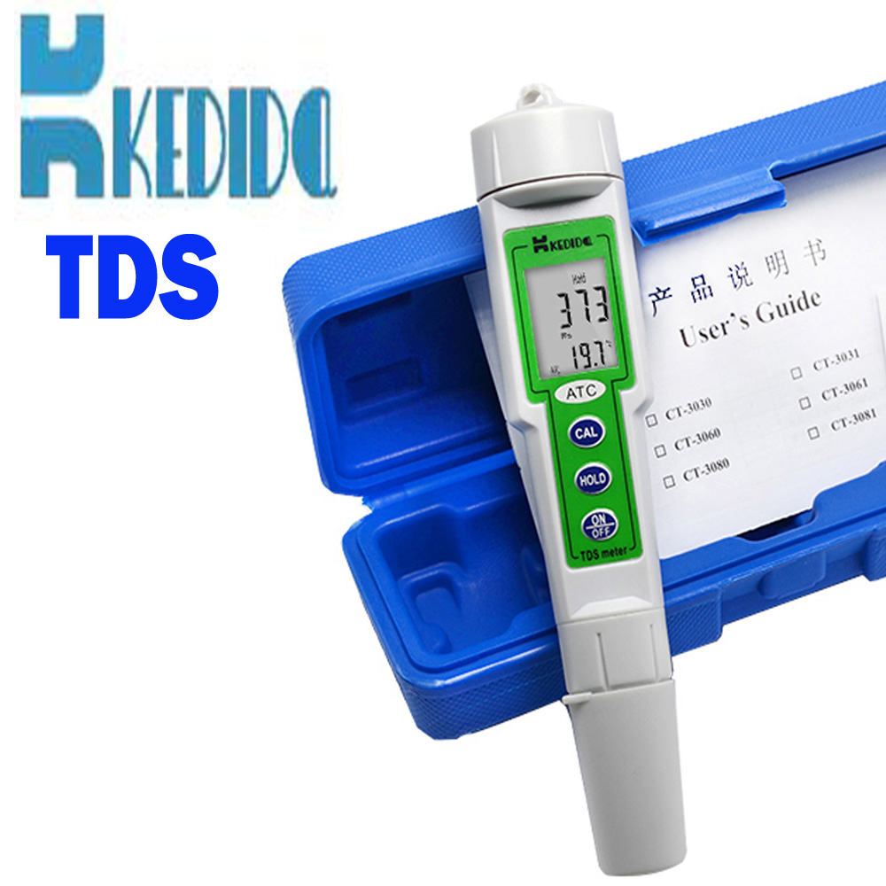 CT-3060 digital TDS Meter water quality tester Pen type digital tds meter 0-1000ppm With temperature display