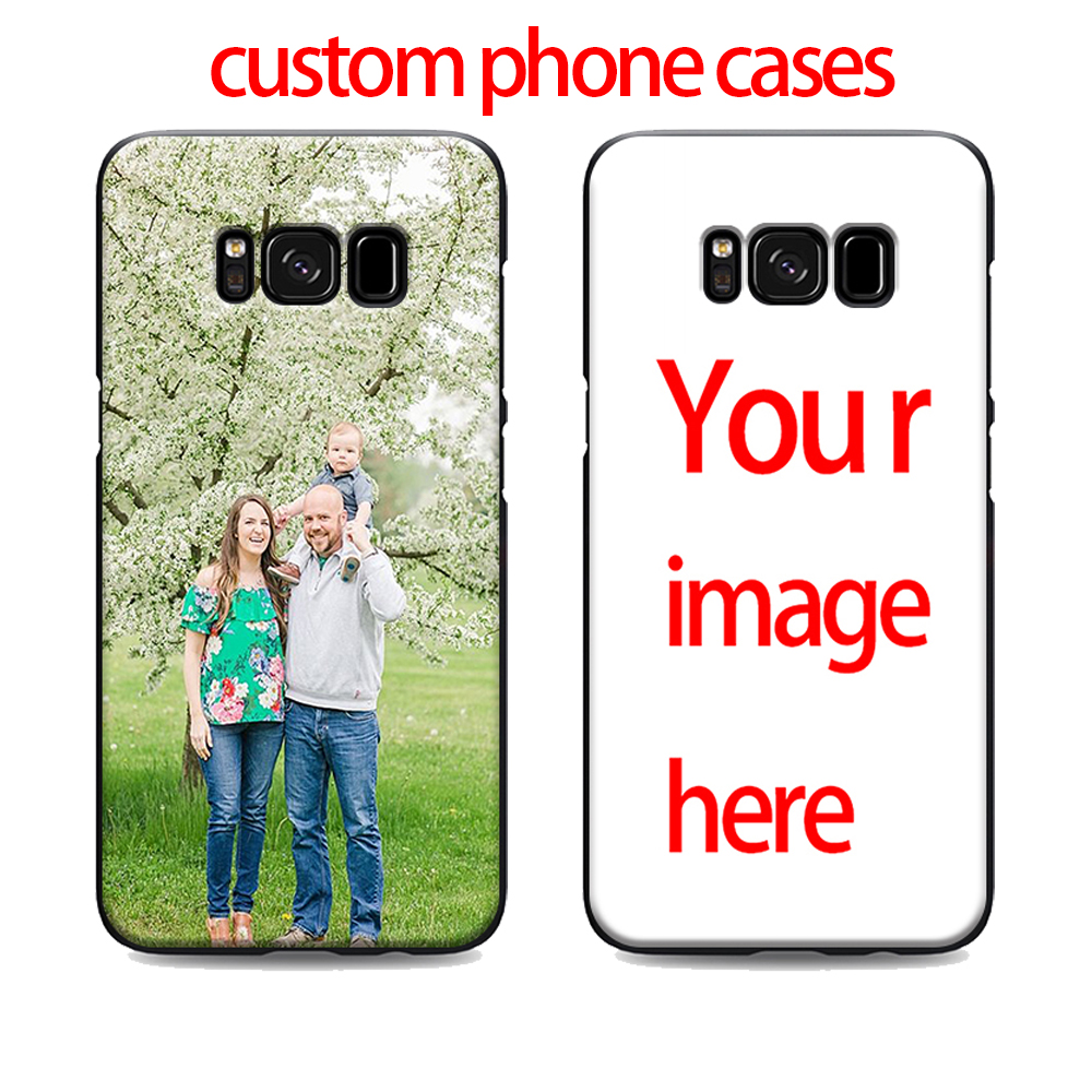 designer fashion 0d49b cec95 US $1.64 34% OFF|diy custom cell phone case for samsung galaxy s7 edge s6  s5 s8 s9 plus best soft Silicone black cover TPU Housing-in Half-wrapped ...