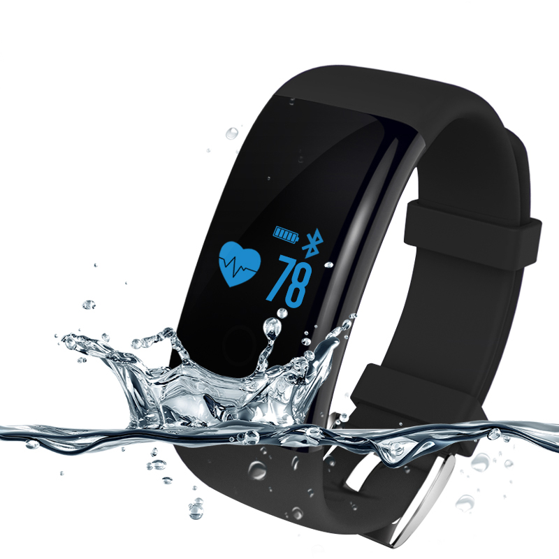 все цены на Heart Rate Waterproof Smart Wristband Bracelet D21 Fitness Tracker Swim Band Sport Heart Rate For Android iOS онлайн