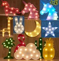 雲フラミンゴユニコーン装飾用パーティーでsunshaine光3dウォール漫画ライトステッカーでフック用フェスティバルオーナメント