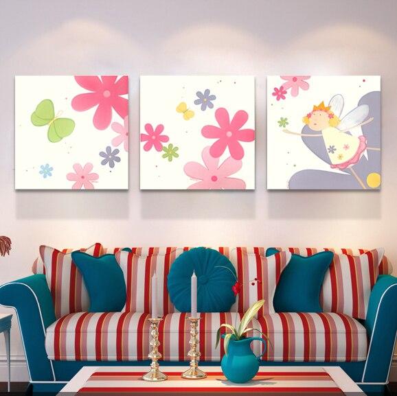 3 unidades de dibujos animados Cuadros decoración arte moderno de la ...