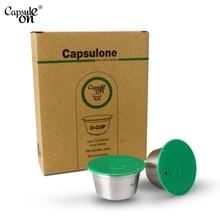 Capsulone/สแตนเลสสตีลโลหะแคปซูลสำหรับDolce Gustoเติมแคปซูลนำกลับมาใช้ใหม่/ของขวัญกาแฟCafe