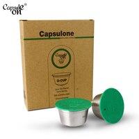 Ev ve Bahçe'ten Kahve Filtreleri'de Capsulone/PASLANMAZ ÇELİK Metal kapsül dolce gusto için Uyumlu Makine Doldurulabilir Kullanımlık kapsül/hediye kahve cafe