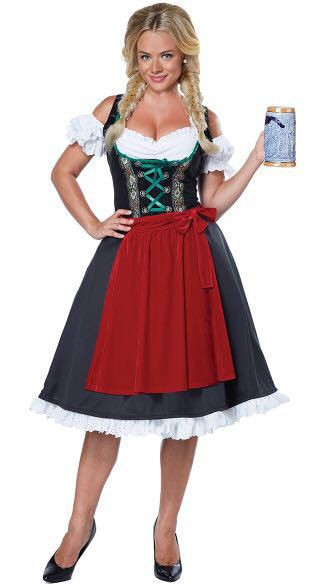 S-XXL Women Oktoberfest Traditional Dirndl Costume Beer Festival Girl Costume German Wench Maid Party Fancy Dress