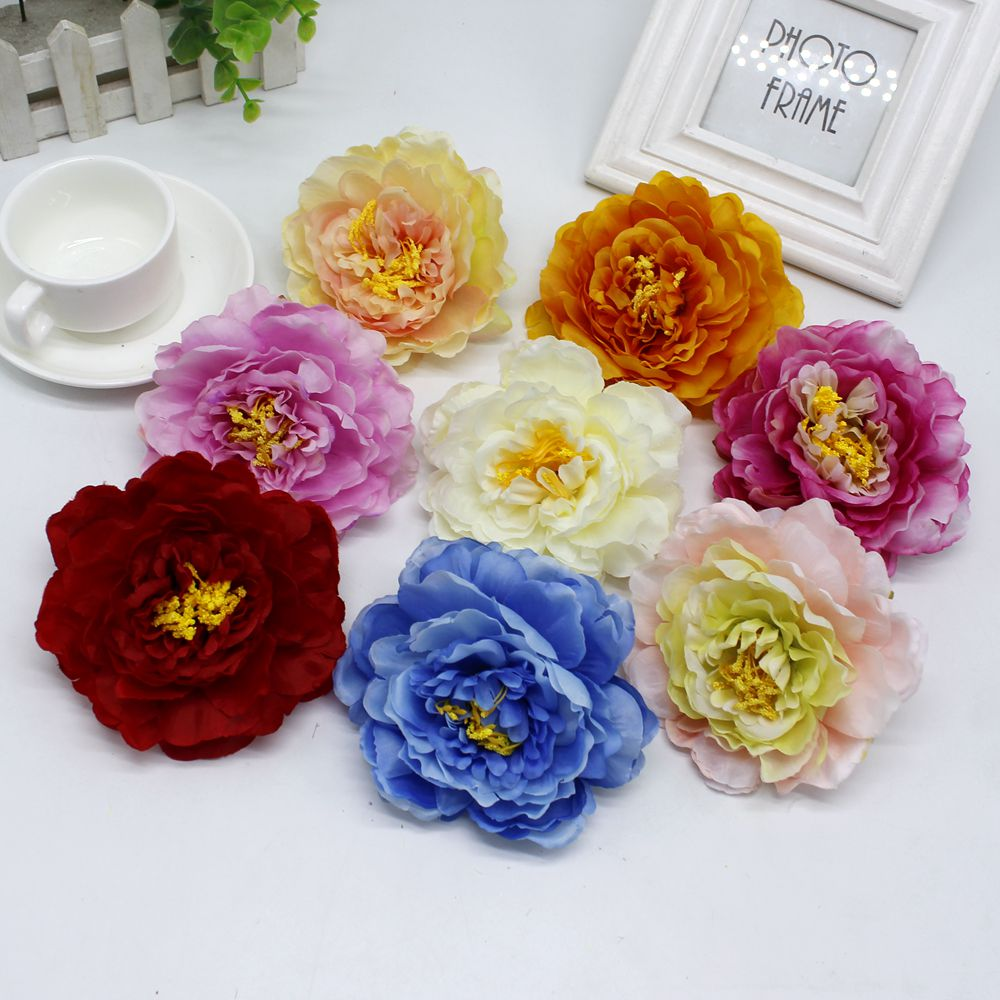 Popular faux peony buy cheap faux peony lots from china faux peony 1 pcs silk faux peony flower handmade wedding gift box scrapbooking crafts decoration flower artificial flowers izmirmasajfo Choice Image