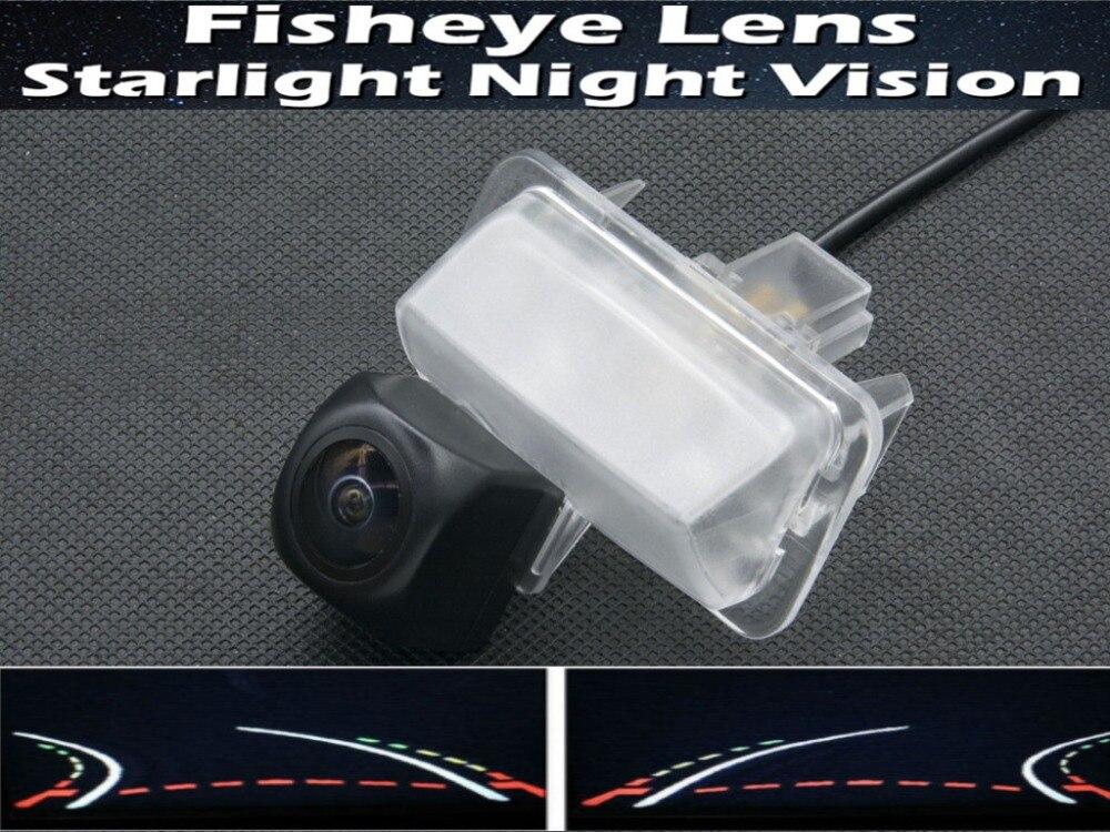 1080P рыбий глаз траектории треков камера заднего вида для Toyota Corolla 2014/E170 Prius Sai Водонепроницаемая Автомобильная камера заднего вида