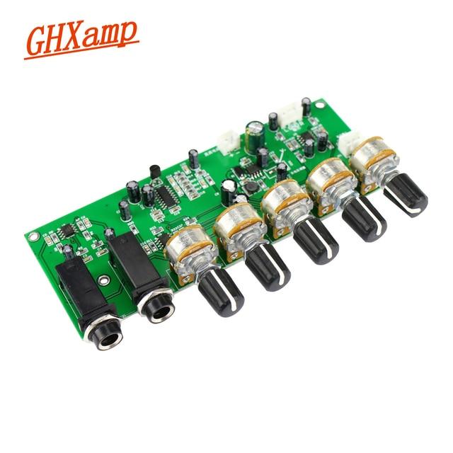 GHXAMP PT2399 קריוקי Reverb מיקרופון מגבר קדם לוח הדהוד מגבר DIY DC12V מובנה Boost דינמי כפולה P