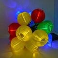20 LEVOU À Prova D' Água Solar Led Da Lâmpada Da Lanterna Festivo Jardim Xmas Bola Luz Fada String Multi Color Iluminação de Natal Ao Ar Livre