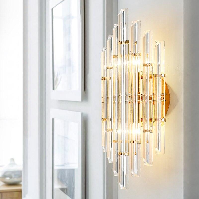 Moderní evropský model pokojová lampa křišťálová lampa designér kreativní osobnost ložnice noční stolek lampa vedená uličkou