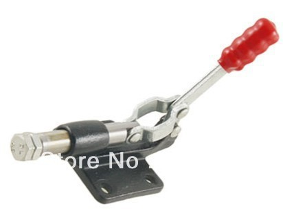 304-CM Plastic Coated 227Kg 500 Lbs Push Pull Toggle Clamp Hand Tool Compact Clamper Holding Capacity with Ductiles Iron Base gh 305 em push pull type metal toggle clamp 386kg holding capacity