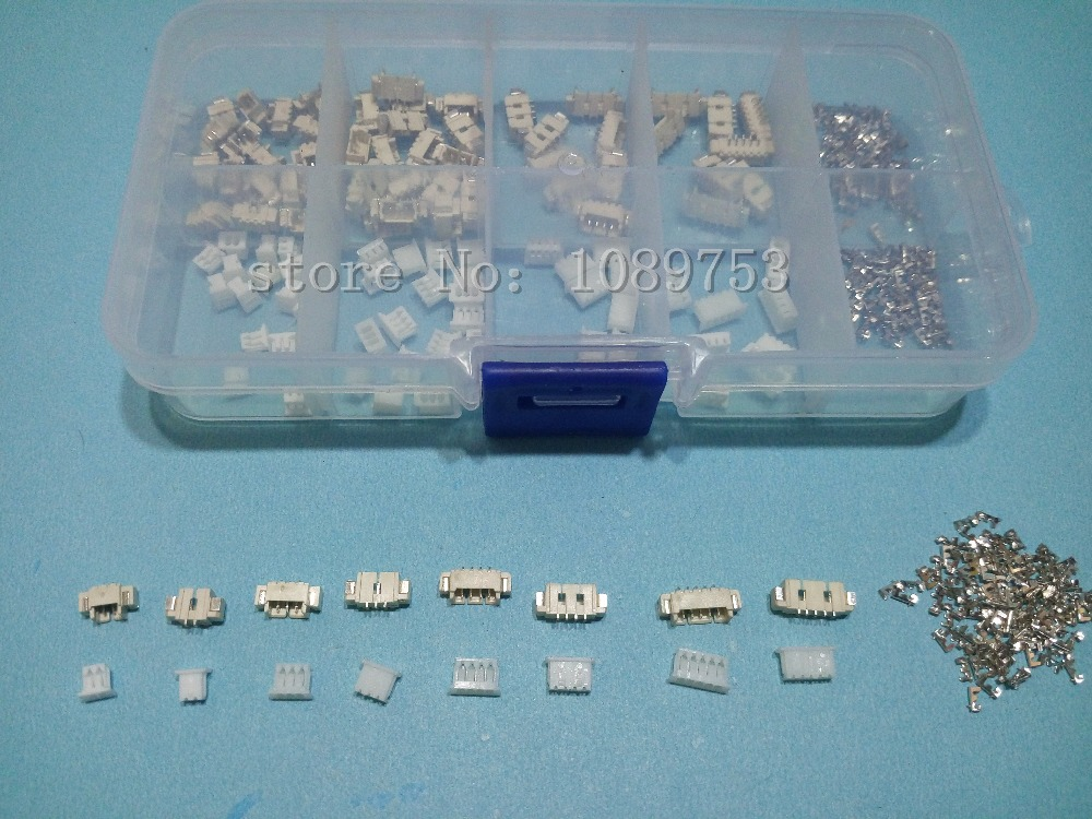 60 sets 1.25mm Pitch Horizontal Type SMD Connectors 2p 3p 4p 5 pin Terminal Housing Pin Header Connector Kit in box social housing in glasgow volume 2