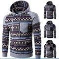 Autumn Winter New Hoodie Men's Sweatshirt Contrast Color Striped Print Sweatshirts Men Long Sleeve Leisure Sweat Outwear