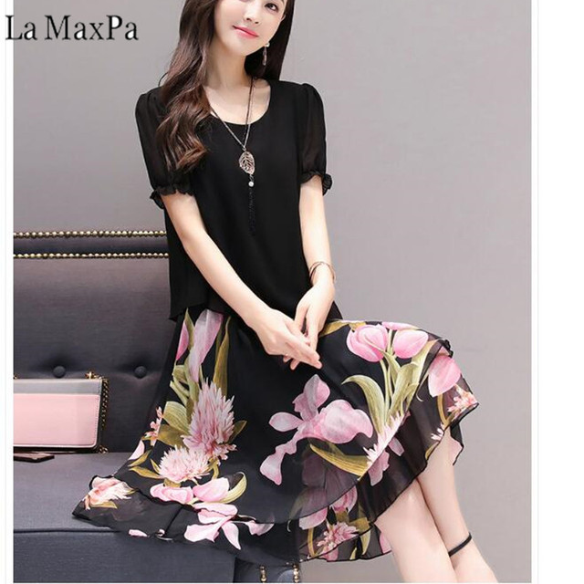 618e5d616297b Dresses Of The Big Sizes Women Clothing 2019 New Spring Summer Style korean  Vestidos Fashion Thin New Chiffon Dress Female