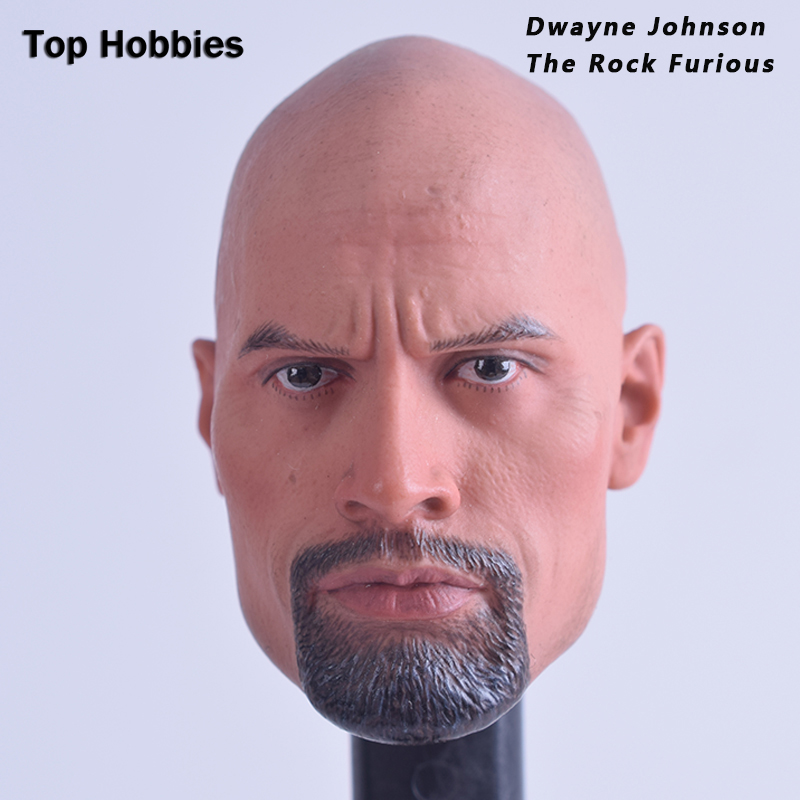"""1//6 Muscular Johnson Male Head Sculpt Fast /& Furious For 12/"""" Body Action Figure"""