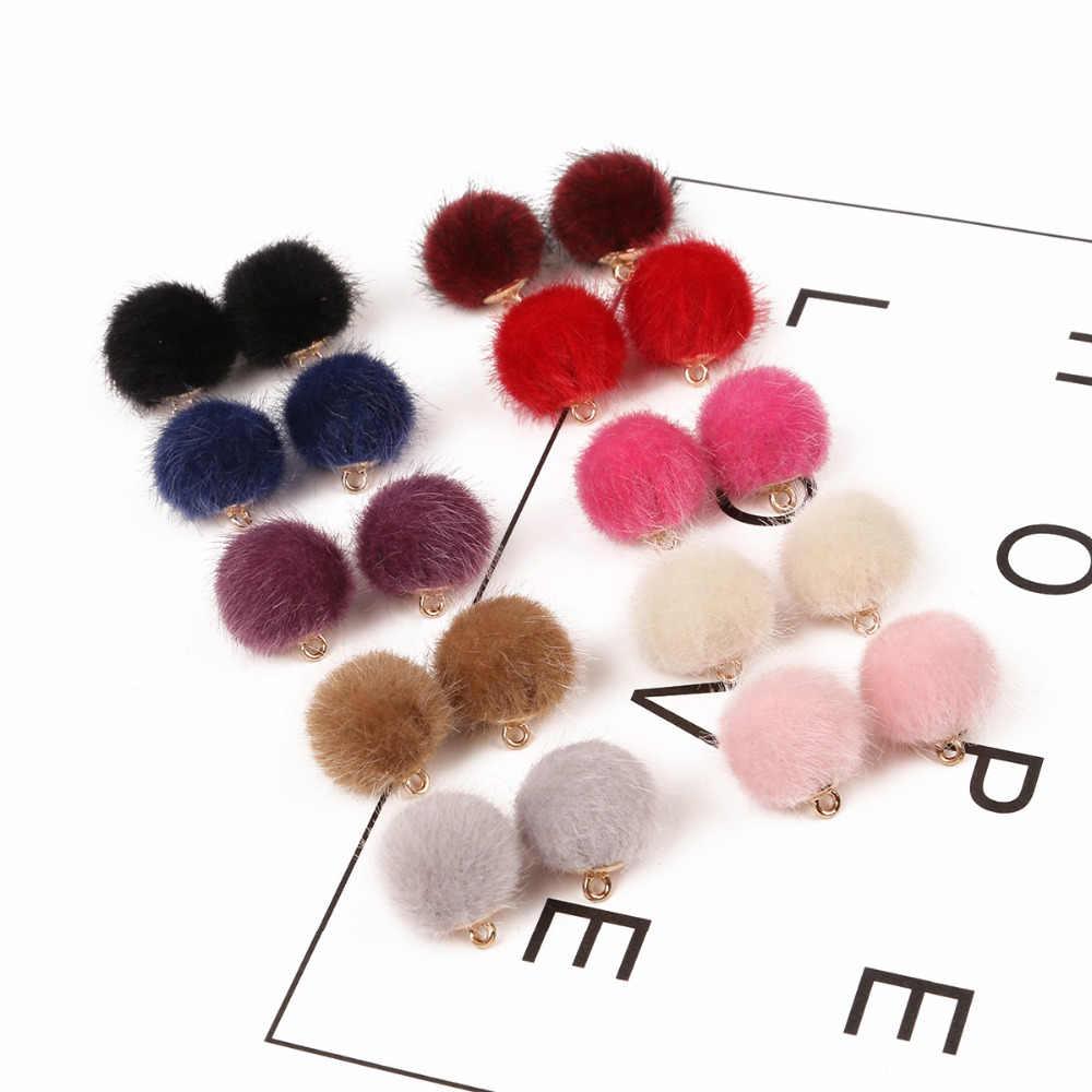 W nowym stylu futro pokryte piłka przycisk 15mm Multi Color tkaniny koraliki akcesoria do szycia DIY Handmade materiały do odzieży 10 sztuk/partia