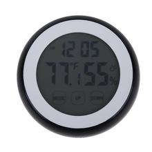 Promo offer Indoor Room Digital Thermometer Hygrometer Electronic Humidity Temperature Meter Clock Baby Room Backlight Touch Screen