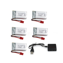 5pcs Battery For Syma X5hc X5hw Battery Rc Drone Spare Part 500mah 3.7v Lipo Battery Accessory Quadcopter Kit
