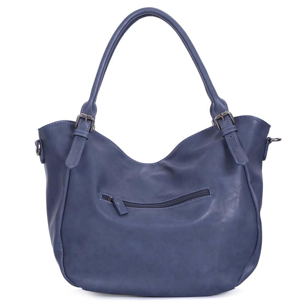 Womens Faux Leather Single Strap Shoulder Handbag Ladies Plain Hobo Bag