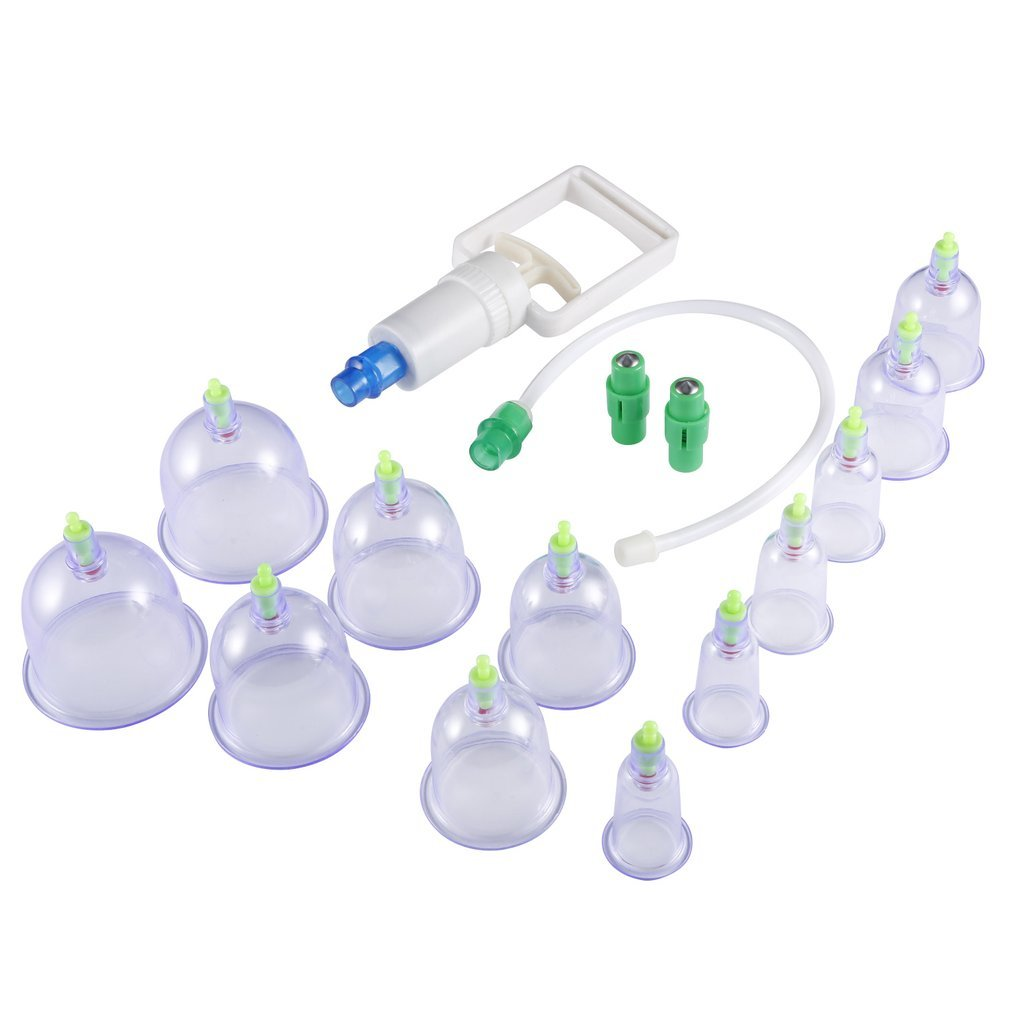 12 Cupping Therapy Cups Effective Healthy Chinese Medical Vacuum Cupping Suction Therapy Device Body Massager Set 2019(China)