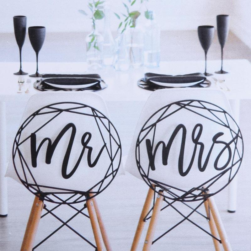 Bride Groom Chair Signs Rustic Wedding Wooden Chair Sign Mr. & Mrs Wood Signs Photo Props Wedding Party Decoration
