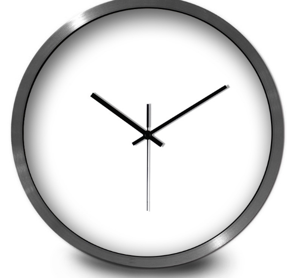 New 12 Inch Fashion Exquisite Wall Clock Individual Living Room Bedroom Mute Clocks Classic Practical Metal Wall Stickers C523