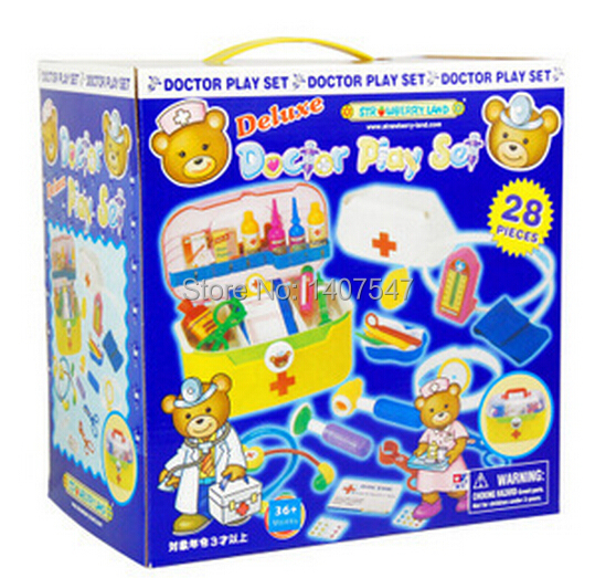 ФОТО New Deluxe doctor play set baby toys child medical kit set for Children Kids  doutora brinquedos