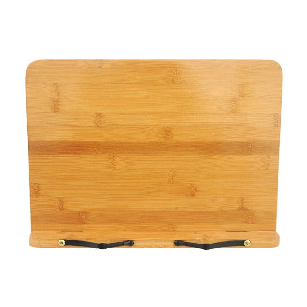 Adjustable Desktop Textbooks Book Stand Document Bamboo Holder Reading Rest Bracket Cookbook Retro Foldable  Tablet