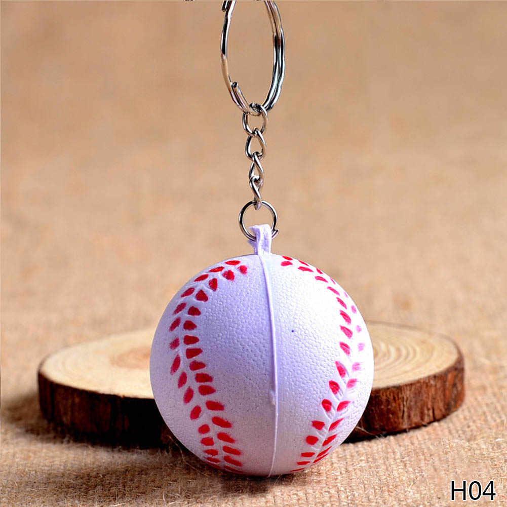 Brinquedos baratos do chaveiro do plutônio do tênis de mesa do basquetebol do futebol, artigos dos esportes da forma chaveiros presente da joia para meninos e meninas