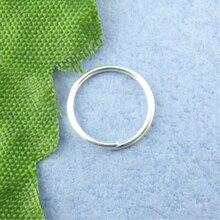 8 ESTAÇÕES 600PCs cor prata-Anel de Salto Aberto 10mm de Diâmetro. (B00494)