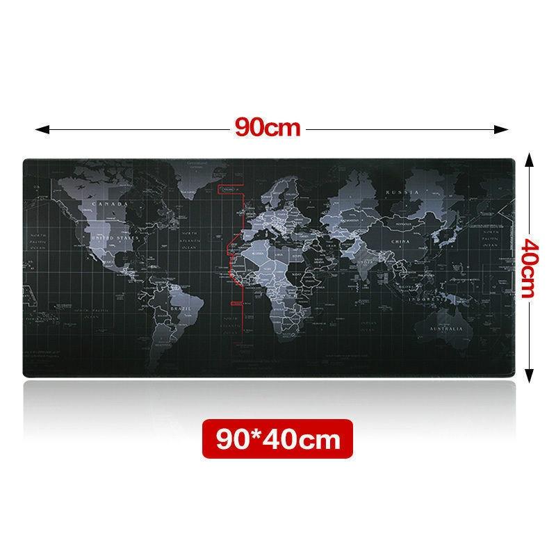 Alfombrilla De Ratón De Juego De Velocidad Con Mapa Mundial Antideslizante De 2 Tamaños DiseñO Moderno