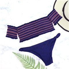 2018-Sexy-Shirred-Bandeau-Off-Shoulder-Crochet-Biquini-Ruched-Crinkle-Bathing-Suit-Female-Swimsuit-Thong-Swimwear