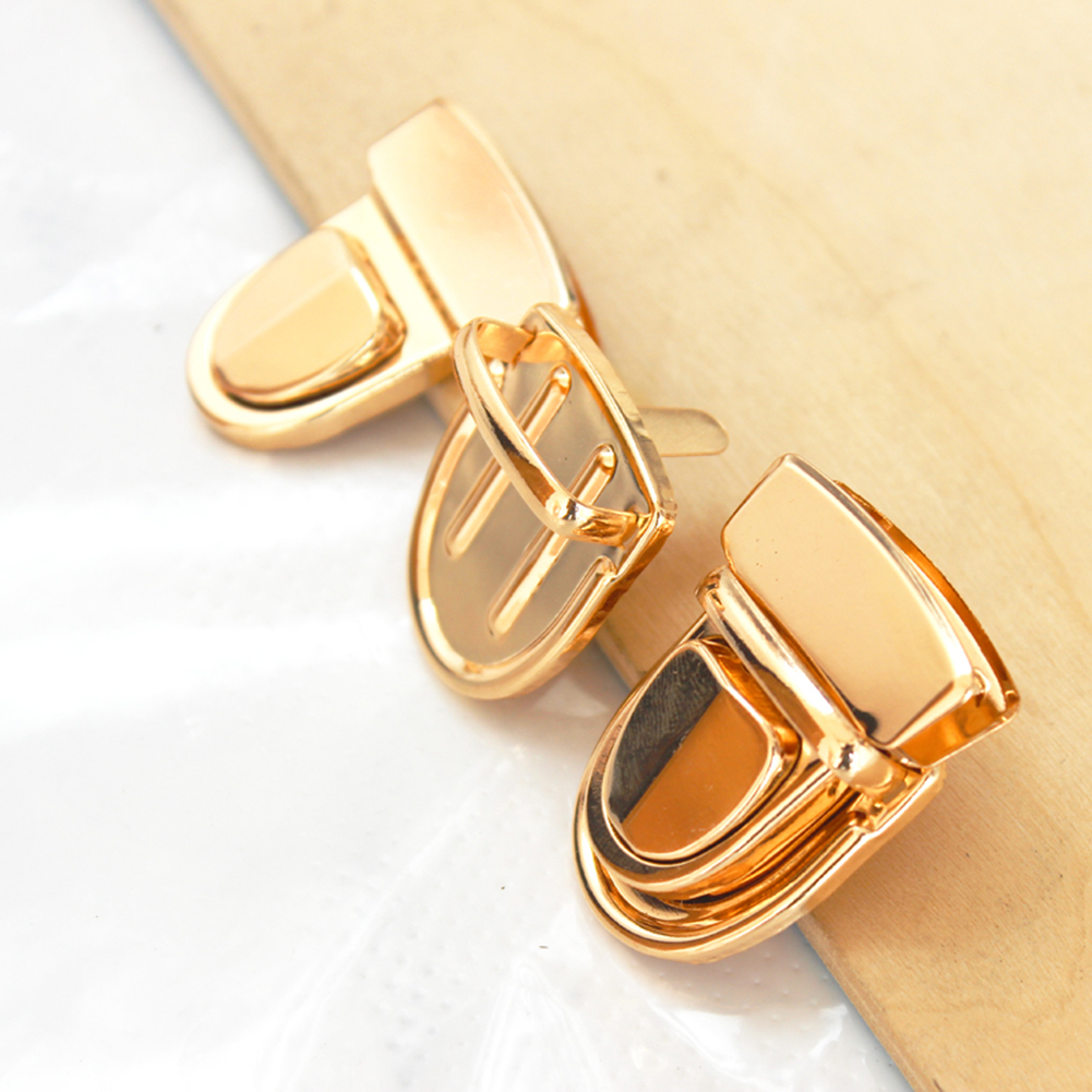 2019 New Durable Buckle Twist Lock Hardware For Bag Accessories Handbag DIY Turn Lock Bags Clasp Gold/Black