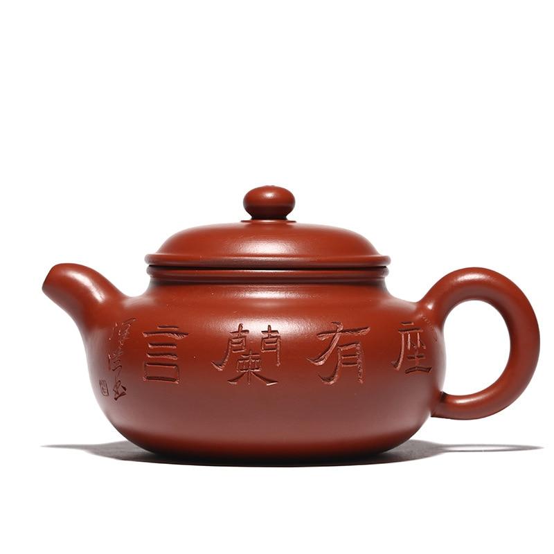 220ML Dahongpao mud antique purple clay teapot handmade master teapot kung fu kettle with gift box suit tieguanyin Oolong tea