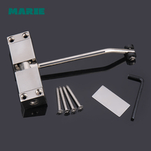 цены 1pc Automatic Mounted Spring Door Closer Stainless Steel Adjustable Surface Door Closer