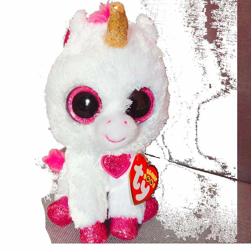 b578faa0fa4 Detail Feedback Questions about TY Beanie Boos 15cm Unicorn Cat White  Unicorn Dog Olw Dragon Plush Toys Big Eyes Eyed Stuffed Animal Soft Toy Kids  Gift on ...