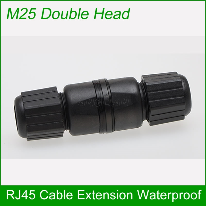 M25 double head CAT5E CAT6E Outdoor RJ45 Female to Female LAN Connector Ethernet Network Cable Extension Adapter waterproofM25 double head CAT5E CAT6E Outdoor RJ45 Female to Female LAN Connector Ethernet Network Cable Extension Adapter waterproof