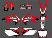 0100 Red NEW STYLE TEAM GRAPHICS BACKGROUNDS DECAL STICKERS Kits For CRF250R CRF250 2010 2011 2012