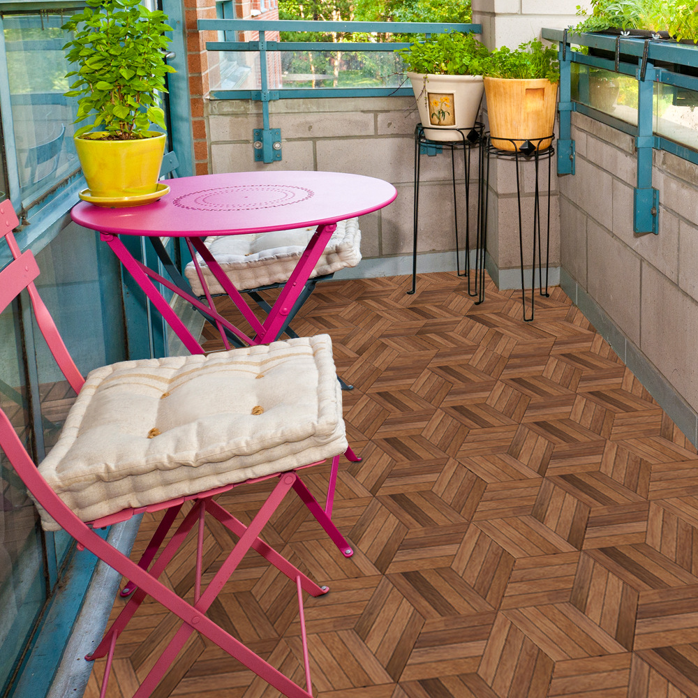 Funlife Waterproof Wood Design Floor Tiles Sticker For Bathroom Decor,Waterproof Anti-Slip Stickers Adhesive Wall Decal
