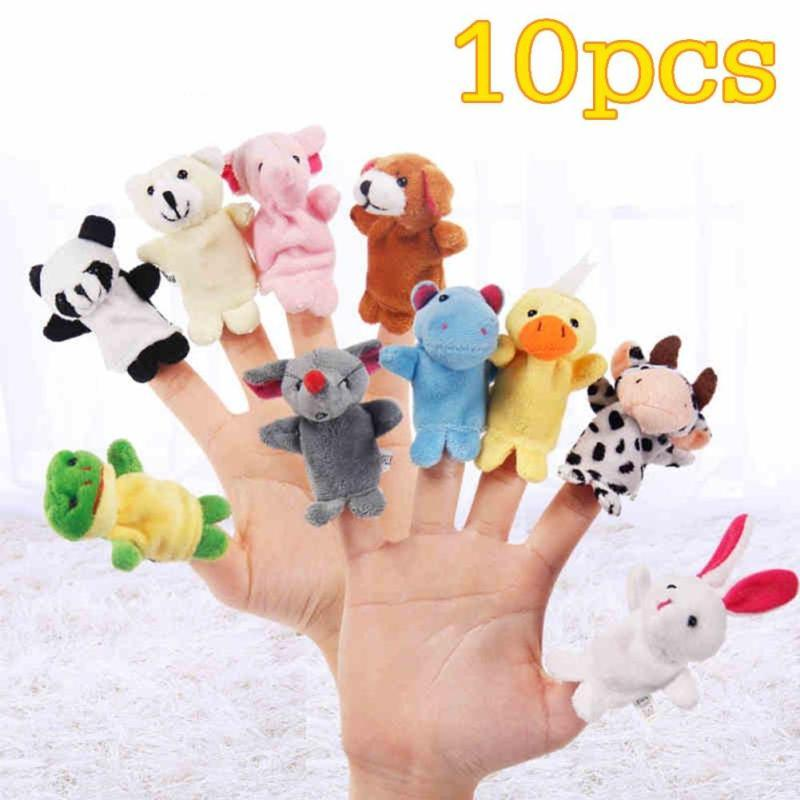 Cute Baby Plush Toy 10pcs/set Finger fantoches de dedo Puppets Educational Hand Puppet M ...